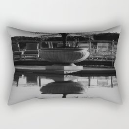 Tropical Reflection (Black and White) Rectangular Pillow