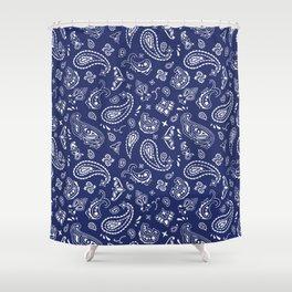 Blue Bandana Shower Curtain