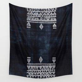Arteresting V48 - Indigo Anthropologie Bohemien Traditional Moroccan Design Wall Tapestry