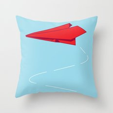 Paper plane Throw Pillow