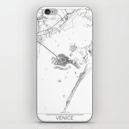 Venice Map White iPhone Skin