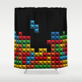 Tetris Blocks Shower Curtain