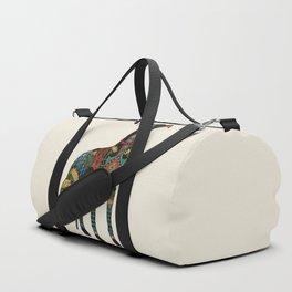 greyhound ivory Duffle Bag