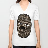 potato V-neck T-shirts featuring Potato by David Ernst