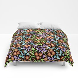 Filigree Floral smaller scale Comforters