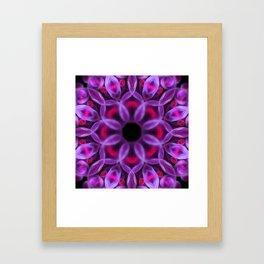 Violet Mandala for Healing Framed Art Print