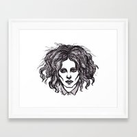 jack white Framed Art Prints featuring JACK WHITE by Niamhkerins ❤