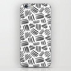 black mudcloth iPhone Skin