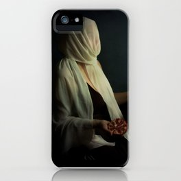 Lady justice with  pomegranate iPhone Case