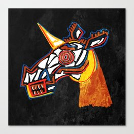 Basquiat Skull Unicorn Canvas Print