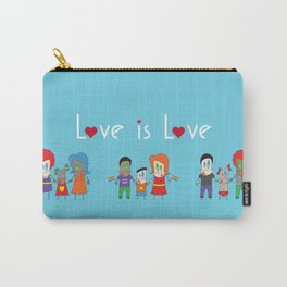 Love is Love Blue - We Are All Equal Carry-All Pouch