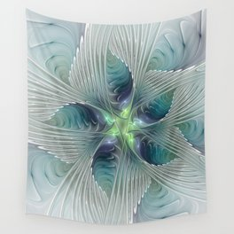 A Floral Fantasy, Abstract Fractal Art Wall Tapestry