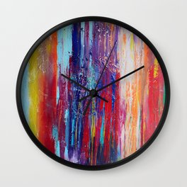 All That We Love by Nadia J Art Wall Clock