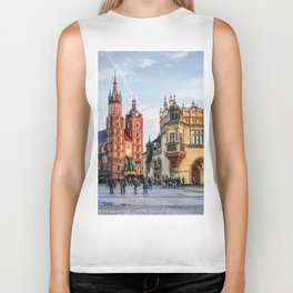 Cracow Main Square art Biker Tank