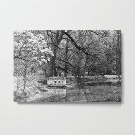 Romantic spot at the lake Metal Print