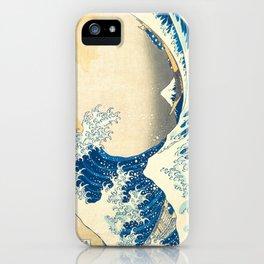 Japanese Woodblock Print The Great Wave of Kanagawa by Katsushika Hokusai iPhone Case