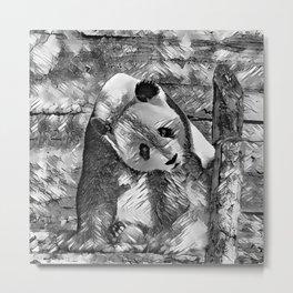 AnimalArtBW_Panda_20170703_by_JAMColorsSpecial Metal Print