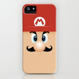 Mario With Cool Mustache iPhone Case