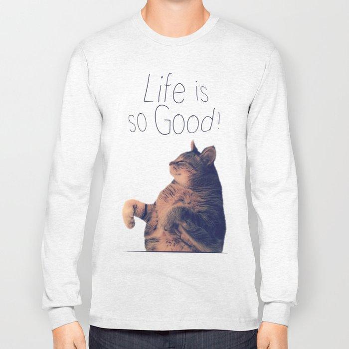 Dancing Kitty Cat Long Sleeve T-shirt