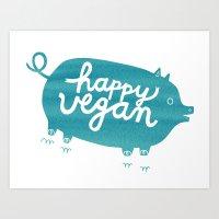 Happy Vegan Art Print