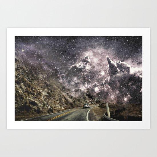 Space gazing Highway One Art Print