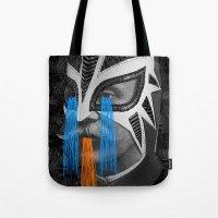 hero Tote Bags featuring HERO by DIVIDUS