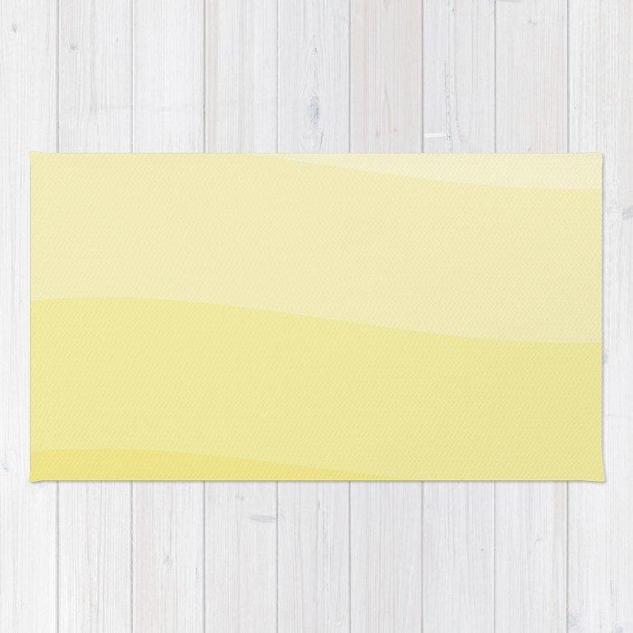 Six shades of yellow. Rug