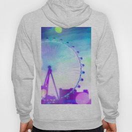 ferris wheel in the city at Las Vegas, USA with the night light bokeh Hoody