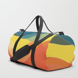 70's and 80's retro colors waves Duffle Bag