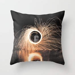 Fire Spinner Throw Pillow