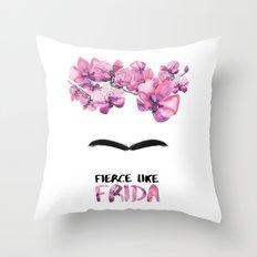 Fierce like Frida Throw Pillow