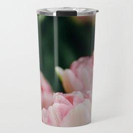 Blush Tulips By The Dozen Travel Mug