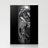zombie Stationery Cards featuring Zombie by Andrea Mangiri
