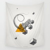 psychology Wall Tapestries featuring Archetypes Series: Elusiveness by Attitude Creative
