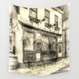 The Mayflower Pub London Vintage Wall Tapestry