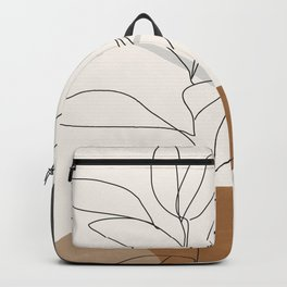 Abstract Art /Minimal Plant Backpack