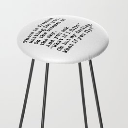 What if you fly? Vintage typewritten Counter Stool