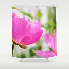 Peony in bloom Shower Curtain