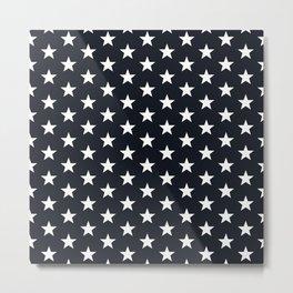 Superstars White on Black Medium Metal Print