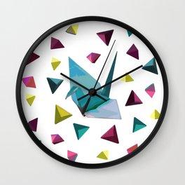 Origami carnival Wall Clock