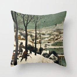 The Hunters in the Snow, Pieter Bruegel the Elder Throw Pillow
