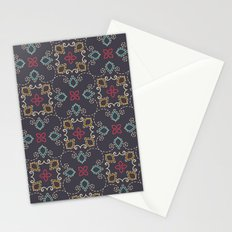 Doodle damask composition Stationery Cards