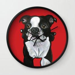 Bobo the Boston terrier Wall Clock