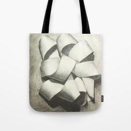 Ribbon - Graphite Illustration Tote Bag