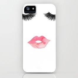 Lips & Lashes iPhone Case