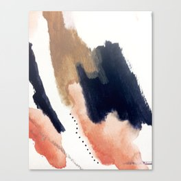 Drift Away [2] - a mixed media abstract piece in pink, brown, and purple Canvas Print