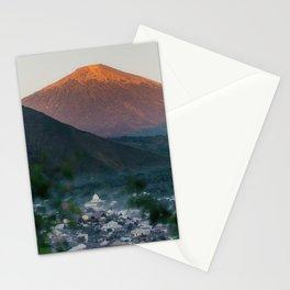 Mt. Rinjani at Sunrise Stationery Cards