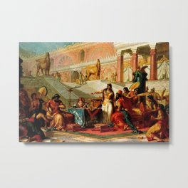 "Classical Masterpiece ""Esther Accusing Haman"" by Frederick Bensell Metal Print"
