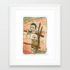 El niño Framed Art Print