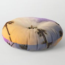 candy puffy clouds Floor Pillow